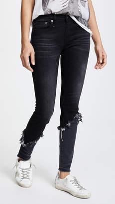 R 13 Alison Double Shredded Skinny Jeans