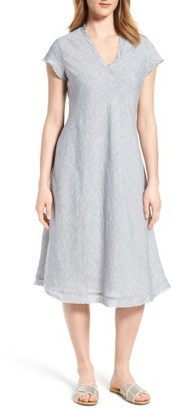 Women's Eileen Fisher Organic Linen A-Line Dress $278 thestylecure.com