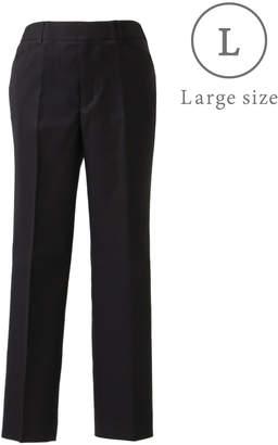 NEWYORKER women's 【クリアランスセール】【ストレッチ】シェルタリングオックス スタイリッシュテーパードパンツ(無地)/大きめサイズ