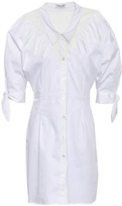 Opening Ceremony Lace-paneled Cotton-blend Poplin Mini Shirt Dress