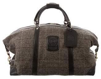 Ghurka Leather-Trimmed Weekender Bag