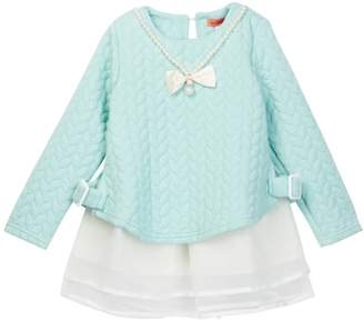 Funkyberry Textured Detail Tunic (Toddler & Little Girls)