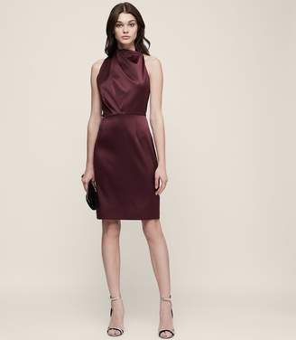 Reiss ORDER BY MIDNIGHT DEC 15TH FOR CHRISTMAS DELIVERY RANA HALTERNECK DRESS Ox Blood