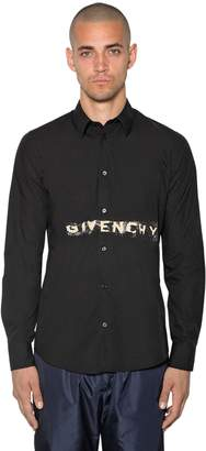 Givenchy Logo Printed Cotton Poplin Shirt