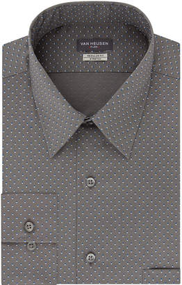 Van Heusen Flex Collar Regular Stretch Long Sleeve Twill Pattern Dress Shirt
