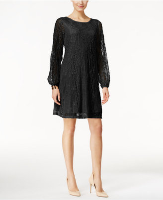 Style & Co. Sheer-Sleeve Lace Dress, Only at Macy's $69.50 thestylecure.com