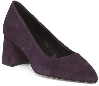 Made In Europe Pointy Toe Suede Pumps