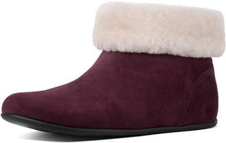 FitFlop Sarah Shearling Suede Slipper Booties