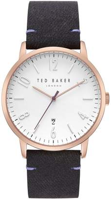 Ted Baker Daniel Stainless Steel Textured Strap Watch