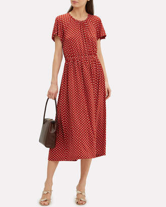 Stine Goya Caitlin Polka Dot Midi Dress