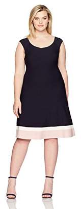 Eliza J Women's Plus Size Fit and Flare Knit Dress