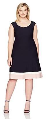 Eliza J Women's Plus Size Fit & Flare Knit Dress