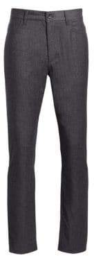 Saks Fifth Avenue COLLECTION Wool Blend Flannel Flat Trousers