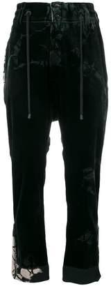 Di Liborio drawstring waist cropped trousers