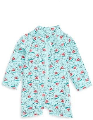 Infant Girl's Egg By Susan Lazar Swim Jessie Print One-Piece Rashguard Swimsuit $57 thestylecure.com