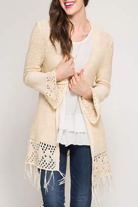 She + Sky Flare Sleeve Crochet Cardigan $47.99 thestylecure.com