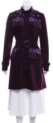 Anna Sui Embroidered Velvet Coat