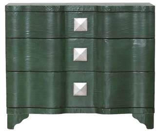 Home Meridian Vintage-Inspired 3 Drawer Accent Chest in Deep Emerald Green