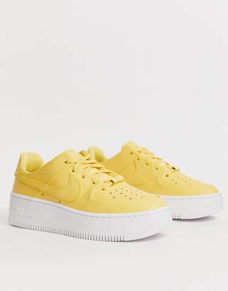 Nike Yellow Air Force 1 Sage Low Trainers