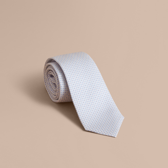 Burberry Modern Cut Graphic Puppy Tooth Print Silk Tie $190 thestylecure.com