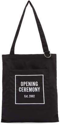 Opening Ceremony Black Classic Logo Tote