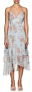 FiveSeventyFive Women's Floral Crinkled Georgette Midi-Dress - Lt. Blue