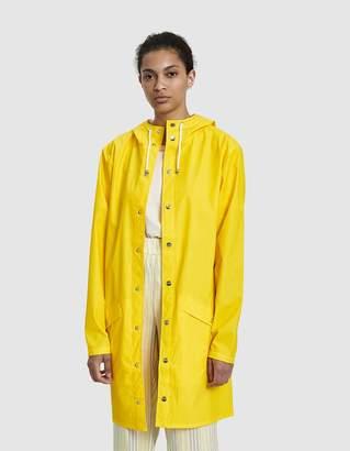 Rains Long Rain Jacket in Yellow