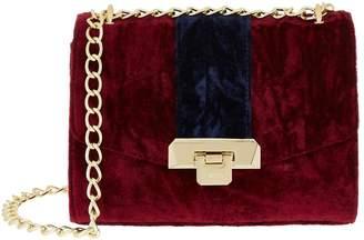 Harrods Pershore Merlot Velvet Bag