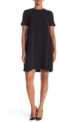 ABS by Allen Schwartz Collection Short Sleeve Solid Trapeze Dress