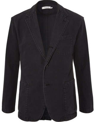 Nonnative Black Manager Unstructured Cotton Blazer