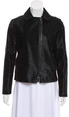 Longchamp Embellished Ponyhair Jacket