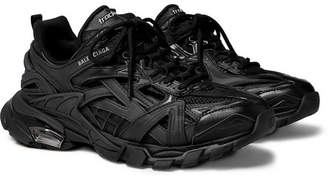 Balenciaga Track 2 Mesh, Nylon And Rubber Sneakers - Black