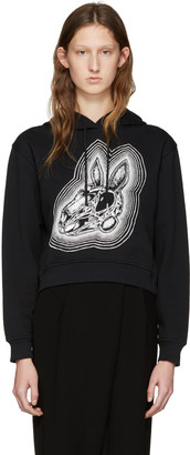 McQ Alexander Mcqueen Black Be Here Now Hoodie $320 thestylecure.com
