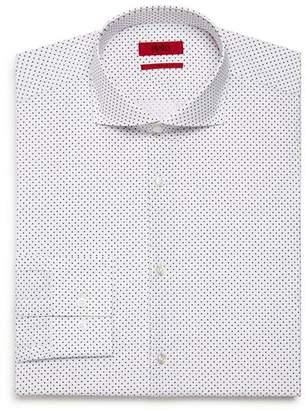 HUGO Micro-Triangle Slim Fit Dress Shirt