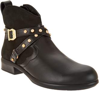 Naot Footwear Leather Ankle Boots w/ Stud Details - Taku