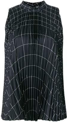 Salvatore Ferragamo pleated geometric top