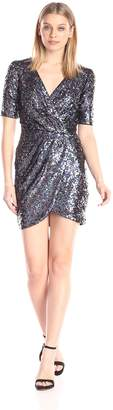 French Connection Women's Lunar Sparkle Short Sleeve Sequin Dress