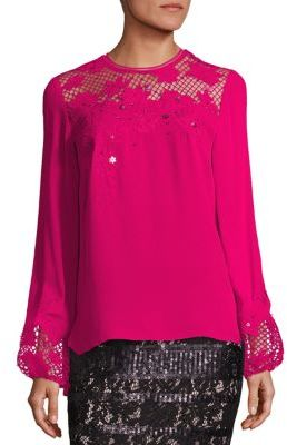 Elie Tahari Kimber Silk Blouse $398 thestylecure.com