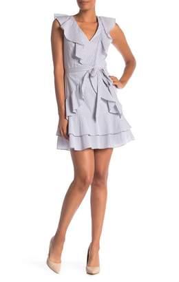 Rachel Roy Striped Tiered Ruffle Dress