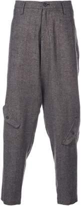 Yohji Yamamoto pocket detail trousers