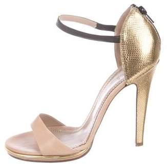Chloé Metallic Embossed Sandals
