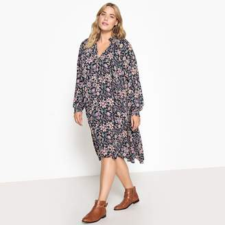 CASTALUNA PLUS SIZE Boho Floral Print Dress