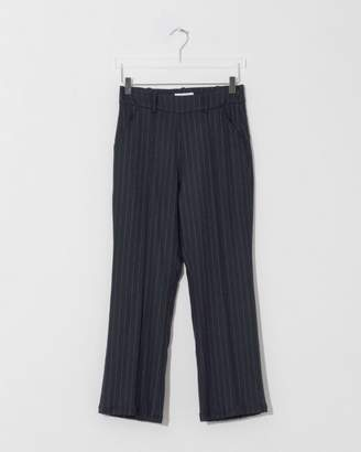 Suzanne Rae Navy Pinstripe Flare Leg Trouser