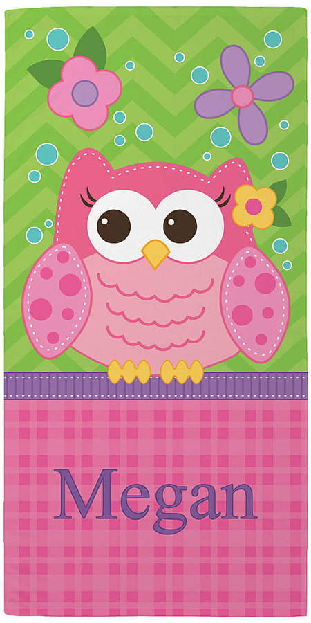 Sweet Owl Personalized Towel
