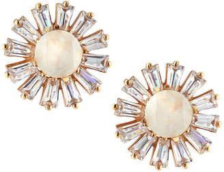 Atelier Mon Large Cluster Button Earrings White