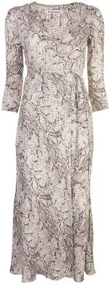 Reformation Jaz python-print dress