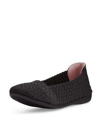 Taryn Rose Belicia Stretch-Woven Flat, Black $135 thestylecure.com
