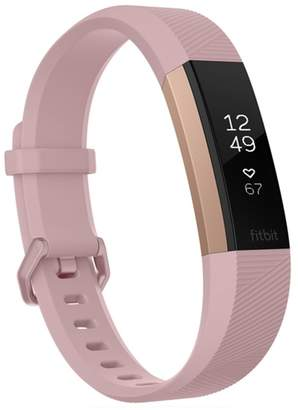 Fitbit Pink Special Edition Alta HR Wireless Heart Rate and Fitness Tracker - Large
