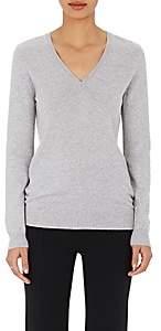 Barneys New York Women's Cashmere V-Neck Sweater - Gray