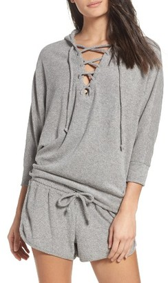 Women's Chaser Lace-Up Lounge Hoodie $86 thestylecure.com